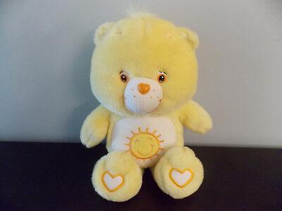 "Care Bears 13"" Yellow Funshine Bear Plush Stuffed Animal GUC for sale  Shipping to Canada"