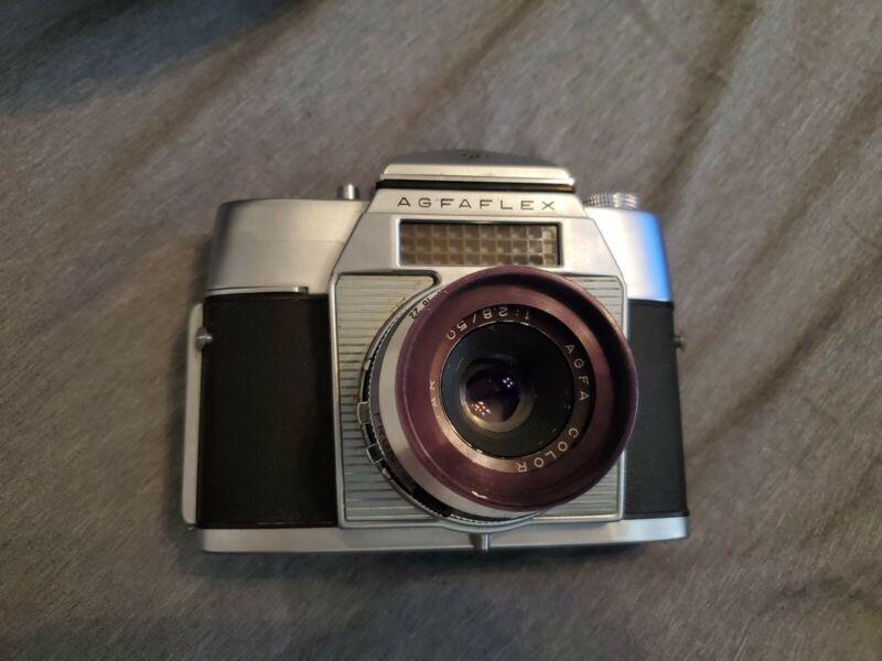Agfa Agfaflex SLR 35mm Film Camera Color Apotar F2.8 50mm Lens Germany Vintage