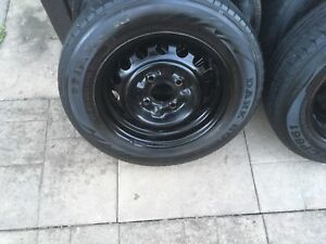 4 summer tires with rims 185/65/14 (4x114.3)