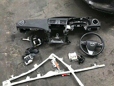 MAZDA 3 AIRBAG AIR BAG DRIVER PASSENGER BELTS DASHBOARD 2009 2010 2011 2012