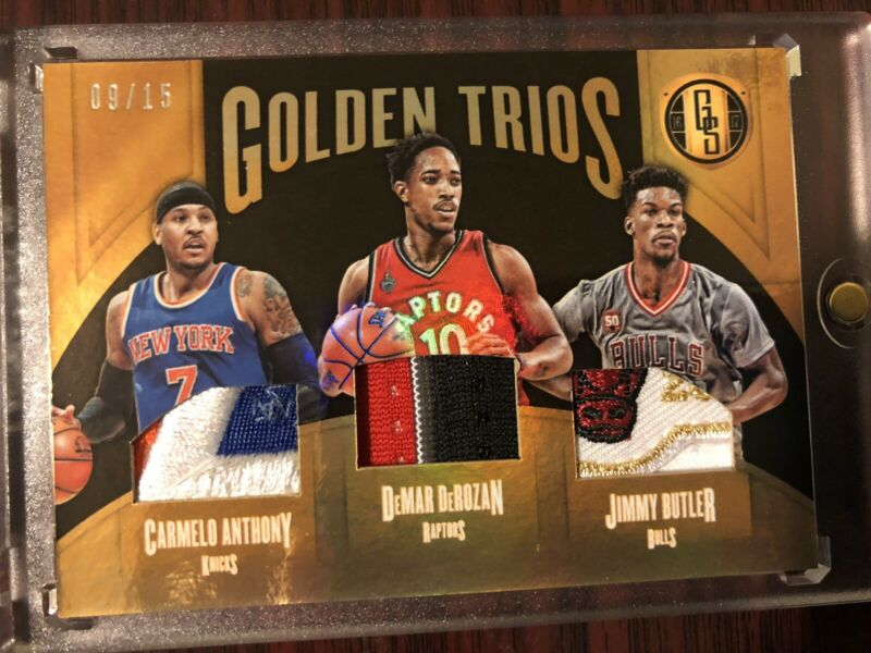 Jimmy Butler Carmelo Anthony Gold Standard Triple Patch Bull Logo logoman #9/15
