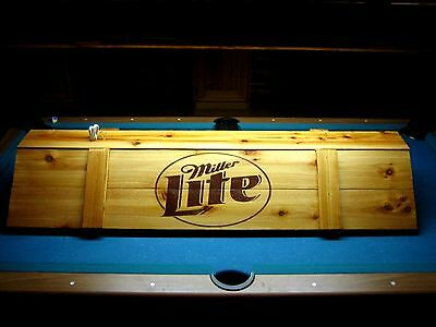 New  Miller Lite Pool Table Light & Cue Rack Combo!!