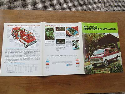 1980 Dodge sportman Wagons  brochure  /flyer