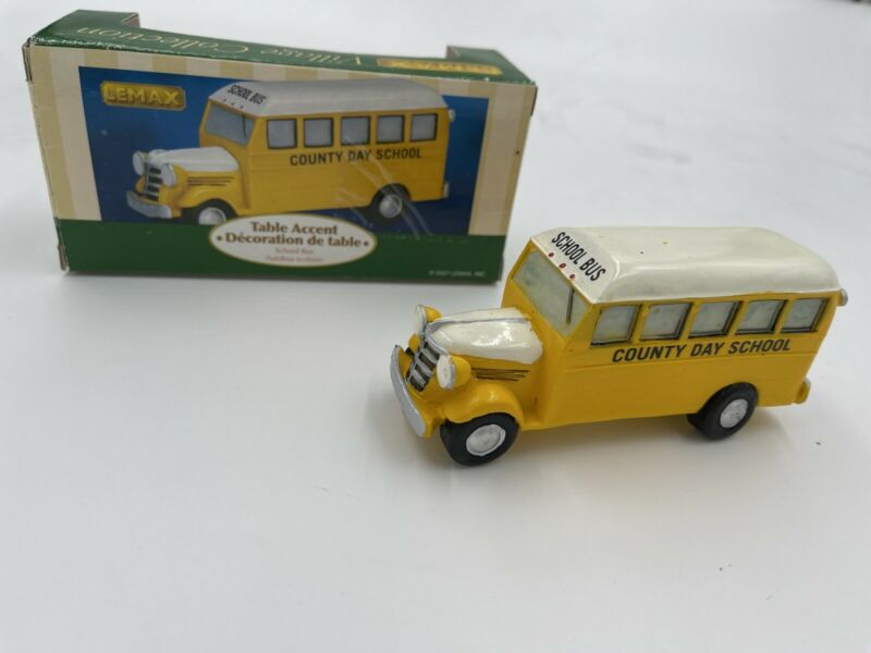 Lemax Christmas Village Town School Bus 73628 Retired County Day