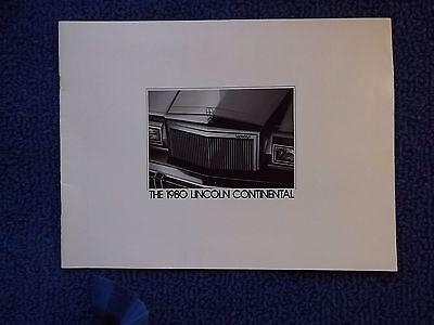 1980 Lincoln Continental Brochure - Prestige