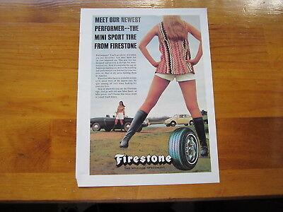 Firestone Mini Sport Tire Ad from Car & Driver July 1971