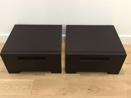 Stylish timber bedside table with 4 drawers in great condition stylish bedside tables watchthetrailerfo