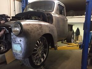 """1954 rat rod 22"""" rims and rubber"""