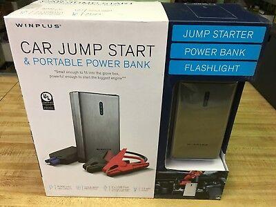 New Winplus Car Jump Start and Carriable 8000mAh Power Bank - Grey