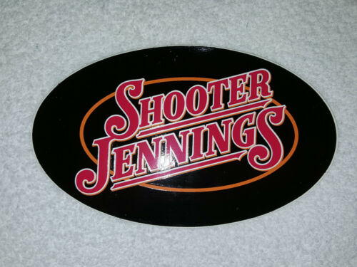 "SHOOTER JENNINGS (Waylon) Promotional Sticker CD Logo New from 2005, big 5"" x 3"""