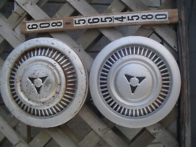 TWO DODGE PICKUP TRUCK POWER WAGEN CHRYSLER PLYMOUTH MOPAR HUBCAPS WHEEL COVERS