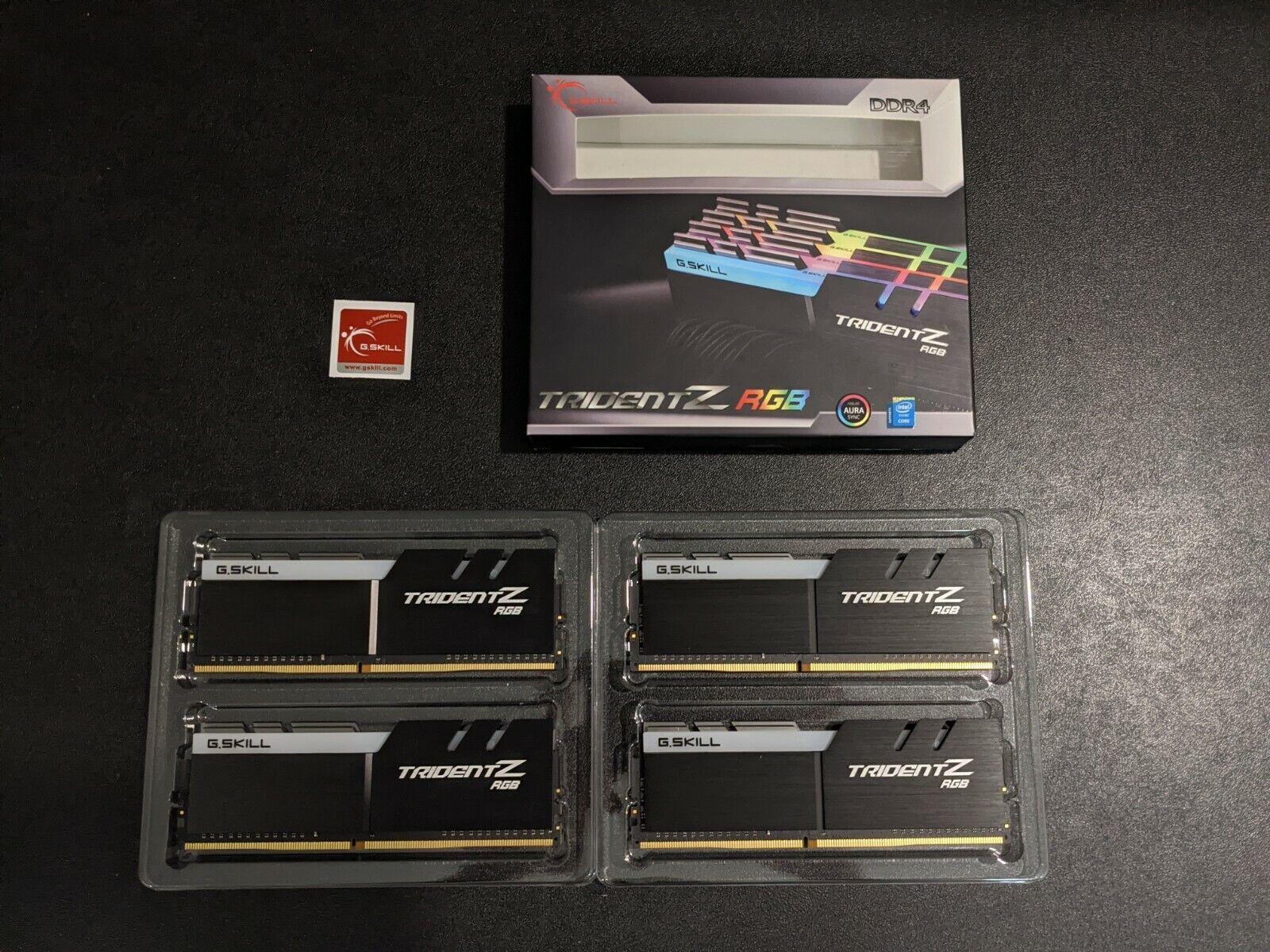 G.SKILL TridentZ RGB Series 32GB 4x8GB DDR4 3600MHz DIMM F4-3600C17Q-32GTZR - $299.99