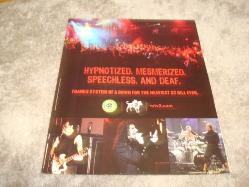 SYSTEM OF A DOWN 2005 MTV ad on stage, Serj Tankian, Daron Malakian
