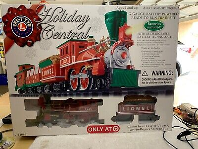LIONEL Holiday Central Train Set 7-11089 G-Gauge Remote Control Christmas Tree