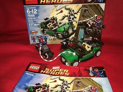 Lego Marvel Super Heroes Spider-Man Spider-Cycle Chase 76004 Complete Venom