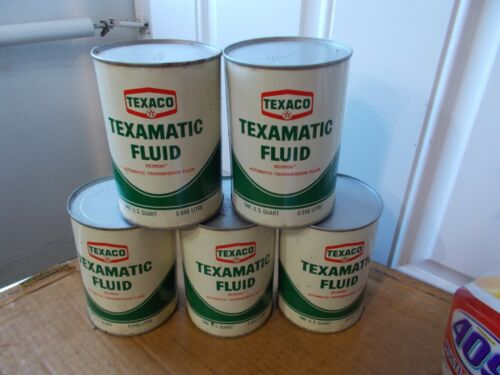1961 Vintage TEXACO TEXAMATIC FLUID TRANSMISSION FLUID FULL OIL CAN