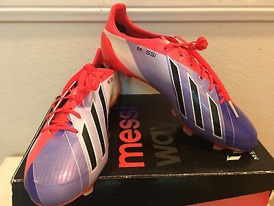 buy popular 68b5f 32c63 Adidas Men s F50 Adizero Messi TRX FG Soccer Cleats Size 10