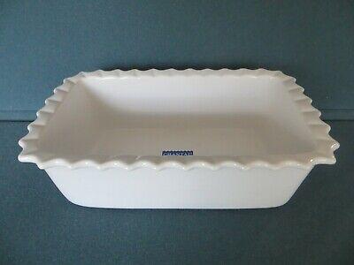 """CHANTAL White Scalloped BAKEWARE Loaf Pan 1-1/2""""QT  8-1/2"""" x 4-1/2""""  93-LFR22"""
