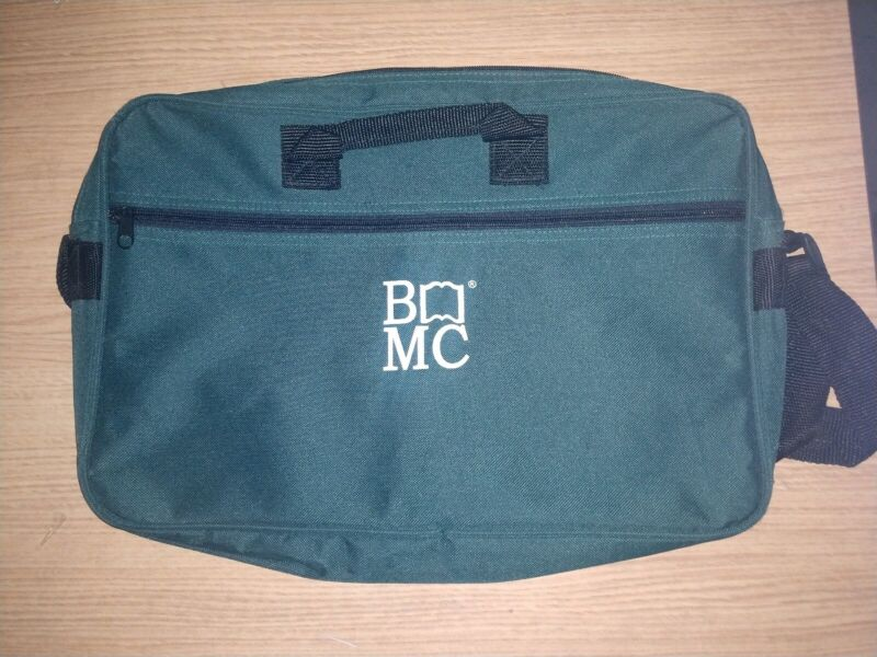 BOOK OF THE MONTH CLUB BOTM TOTE / ZIPPER BAG - NEW