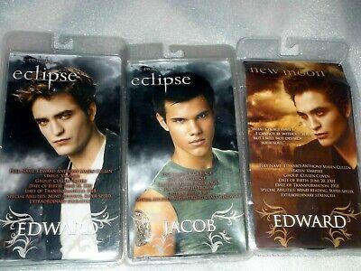 3 Twilight Saga - Eclipse and New Moon action figures - Edward & Jacob