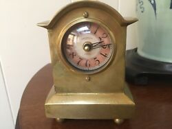Timeworks Solid Brass Mantle Clock Series 1906 Reproduction Excellent Condition!