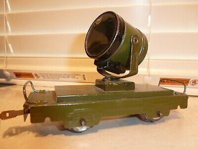 Clean Marx O-Gauge Train Tin Prewar Olive Drab Dummy Army Searchlight Car