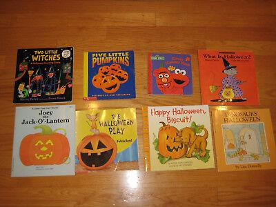 Pre K Halloween Books (LOT OF 8 CHILDRENS Halloween Scholastic Pre-K/1st grade readers/picture)