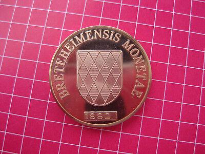 Sonderprägung Sondermünze breteheimensis monetae Brettener Taler