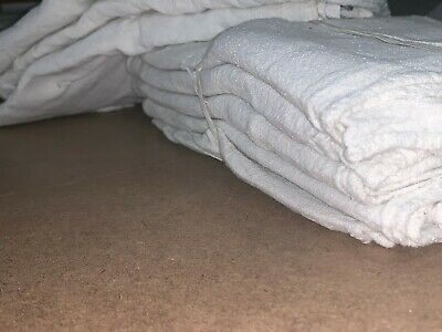 1000 New Great Mechanics Shop Rags Towels White 13x14