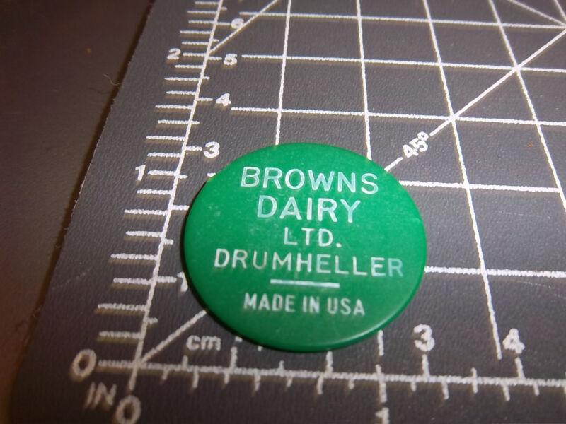 Browns Dairy Drumheller Alberta Canada token, good for one quart Milk, UNIQUE