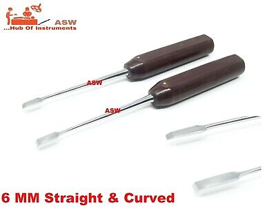Periosteal Elevator 6 Mm Straight Curved Fiber Handle 8 Inch Orthopedic