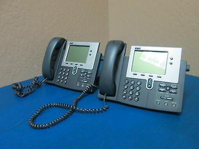 Lot Of 2 Cisco Systems 7940 Cp-7940g Ip Business Phone