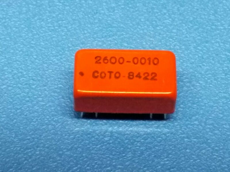 Qty 4 Coto Technology DIP Reed Relay, 2600-0010, New
