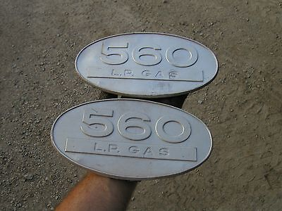 Farmall 560 Lp L.p. Gas Tractor Original Ih Front Side Oval Emblems Real Nice