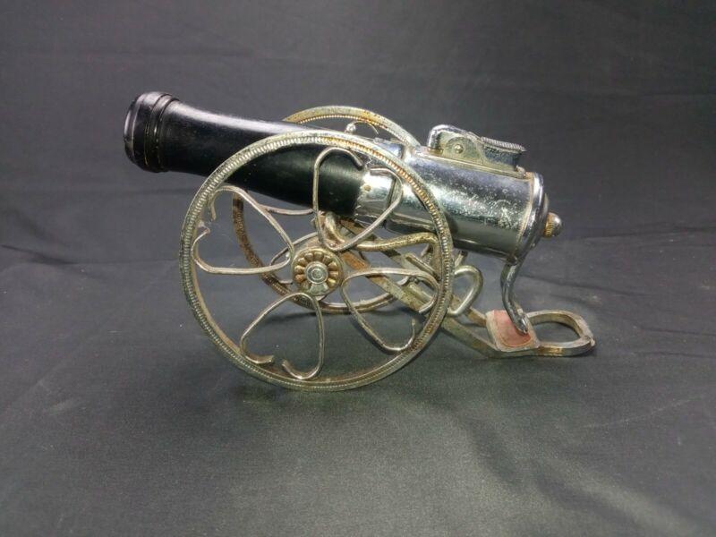 Vintage Cannon Wick Type Cigarette Lighter - Silver Color