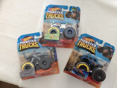 Hot Wheels Monster TRUCKS Set of 3 Models Might Vary to the pictures 3+ New