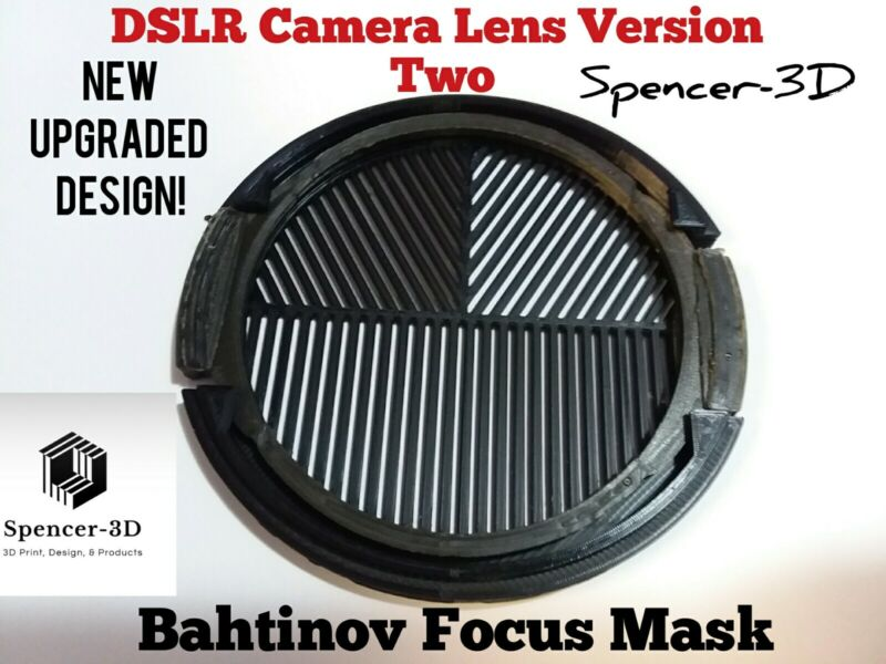 58mm Thread DSLR Camera Lense Bahtinov Focus Mask (VERSION TWO MODEL) updated