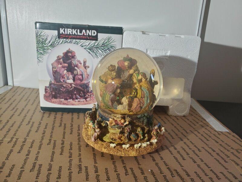 Kirkland 109619 Musical Rotating Waterglobe Nativity Baby Jesus With Box