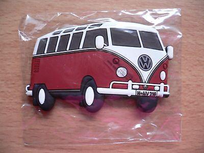 Kühlschrankmagnet VW Bus Bulli Sambabus rot Oldtimer - neu!