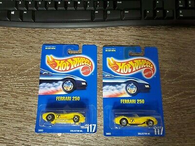 HOT WHEELS FERRARI 250 #117 - Two Variations BLACK PIPES & Chrome Pipes