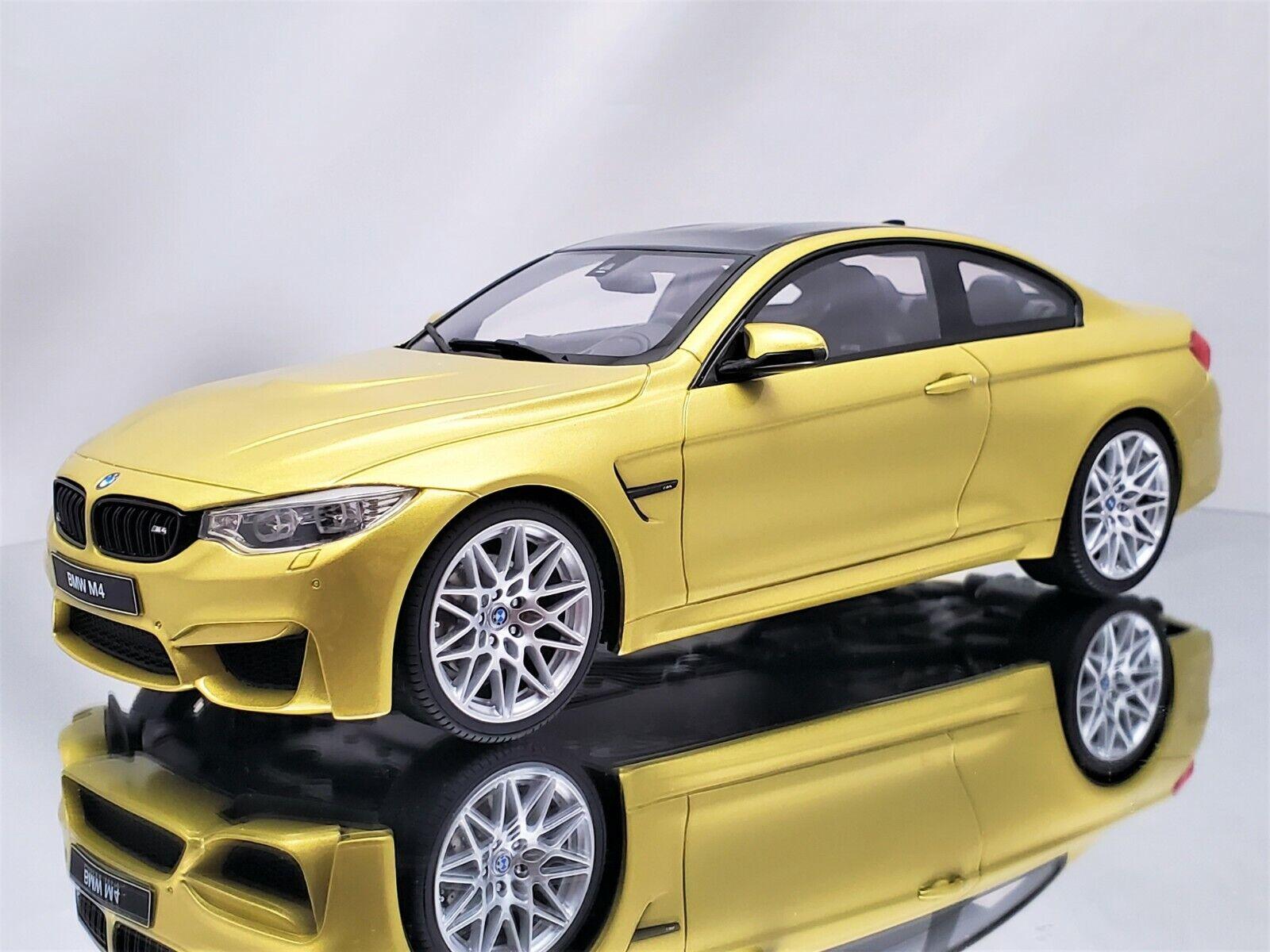BMW M4 Coupe F82 2014-19 gelb yellow metallic 1:87 Minichamps