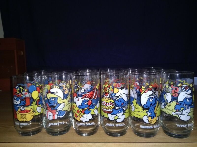 1983 Smurf Glasses