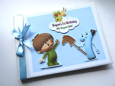 PERSONALISED BABY TV BOY/GIRL /FIRST/1ST BIRTHDAY GUEST BOOK - ANY DESIGN - Baby First Tv Party Supplies