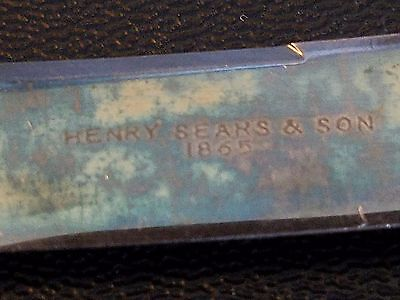 Set of 3 Sterling and Mother of Pearl Vintage Fruit Knives By Henry Sears & Son