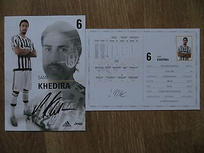 Handsignierte Autogrammkarte AK *SAMI KHEDIRA* Juventus Turin 15/16 2015/2016