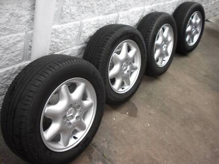 "MERCEDES C200 W203 GENUINE 15 ""ALLOYS X 4 GOOD CONDITION Kangaroo Point Brisbane South East Preview"