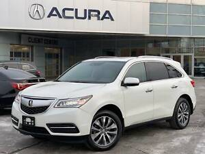 2015 Acura MDX NAVI | 1OWNER | 3.4% | RAILS | OFFLEASE |