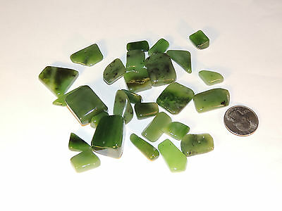 Siberian Jade Tumbled stones from Russia 1/4 pound (4936)