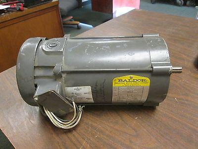 Baldor Dc Motor Cd3450 0.5hp 1750rpm 56c Frame Arm90v 5.2a Field10050v 0.51a