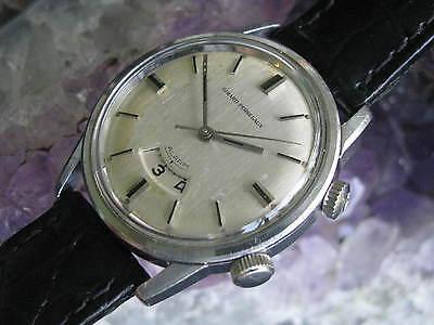 Girard Perregaux Vintage Stainless Steel Alarm Wrist Watch